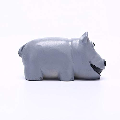 Olatokolaos 2019 Cute Micro Mini Hippo Animal Miniature Fairy Garden Home Houses Craft Landscaping Decor Diy - Silver Metal Figurines Miniatures