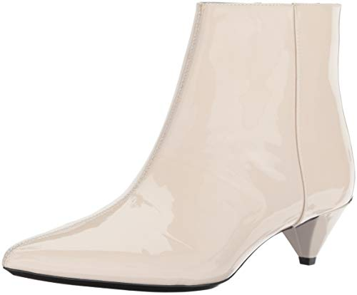 Calvin Klein Women's Larissa Ankle Boot, Soft White Patent, 2.5 UK