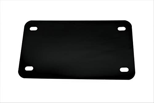 Black - Motorcycle Anodized Aluminum License Plate Blank - 0.025/0.5mm - 4x7