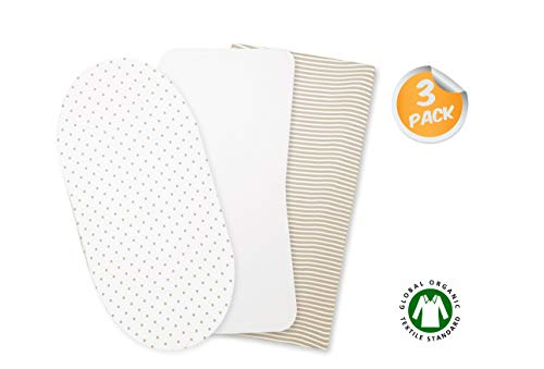 ORGANICKID Bassinet Sheets Fitted GOTS Certified Product Image