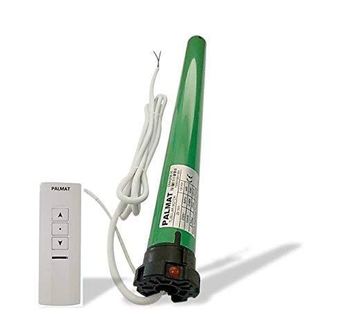 Motor tubular cilíndrico de PALMAT con control por radio integrado que incluye un mando a distancia de un canal (60sw/Capacidad de Elevación de 25 Kg)