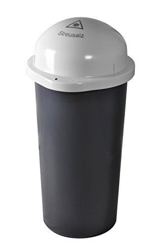 KUEFA Duo 60L - Streusalz Sammelbehälter mit Laserbeschriftung (Weiss, Streusalz)