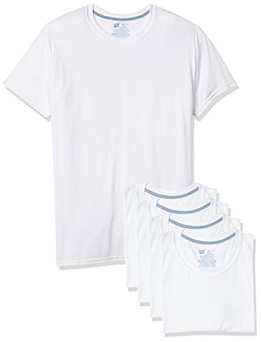 Hanes Men's 5-Pack X-Temp Comfort Cool Crewneck Undershirt, White, XX-Large