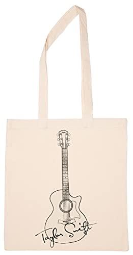 Enigmae Músico Taylor Nombre Guitarra Reutilizable Compras Tienda de Comestibles Algodón Bolsa Reusable Shopping Bag