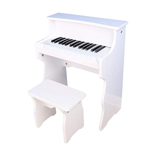 Digitale piano Children's Pianino Beginner Houten Muziek Instrument Toy 30-key elektronisch orgel 3-8 jaar oud (kleur: wit) (Color : White)