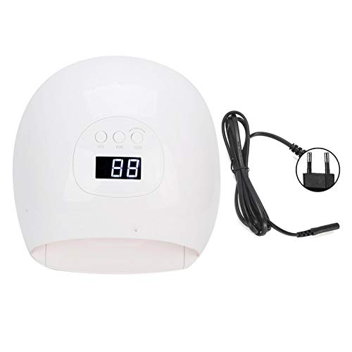 Lámpara para secador de uñas, esmalte de gel profesional, luz LED UV, equipo de curado de uñas, 72W, 3 modos para salón de uñas(EU)