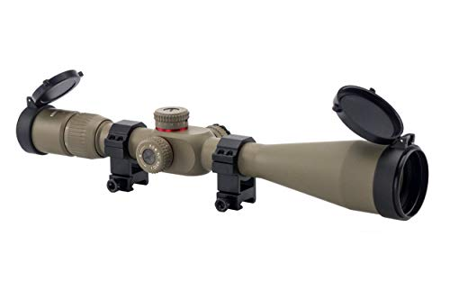 Monstrum G2 6-24x50 First Focal Plane FFP Rifle Scope with Illuminated Rangefinder Reticle and Parallax Adjustment | Flat Dark Earth