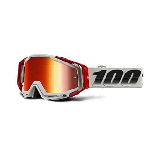 100% 50110-385-02 Racecraft Suez Brille, Spiegel Linse, Erwachsene, Orange/Silber