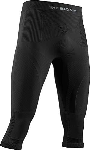 X-Bionic Energy Accumulator 4.0 Pants 3/4 Men Pantalon de Compression Collant de Sport Homme, Black/Black, FR : L (Taille Fabricant : L)