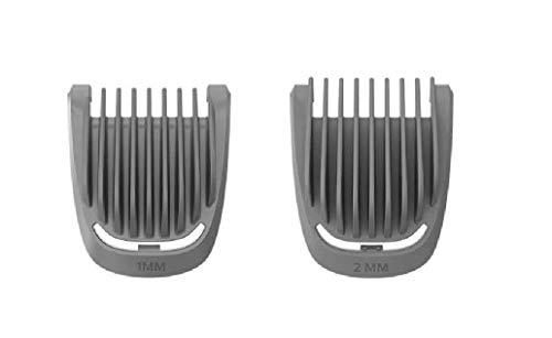 2x Stubble Comb Combs (1mm 2mm) For Philips Trimmer Shaver BT3213 BT3215 BT3216 BT3221 BT3226 BT3227 BT3236 BT3237 MG3710 MG3711 MG3712 MG3720 MG3721 MG3722 MG3730 MG3731 MG3740 MG3747 MG3748 MG3750