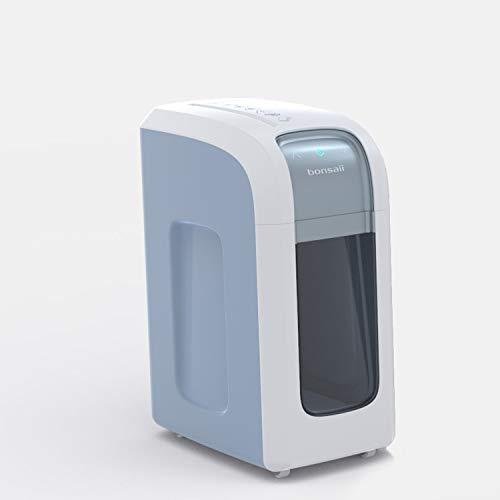 Bonsaii 4D14 Aktenvernichter, bis zu 5 Blatt, Mikroschnitt (Sicherheitsstufe P-5), Hochleistungsmotor, geeignet für Datenschutz nach Verordnung (DSGVO 2018), weiß/silber