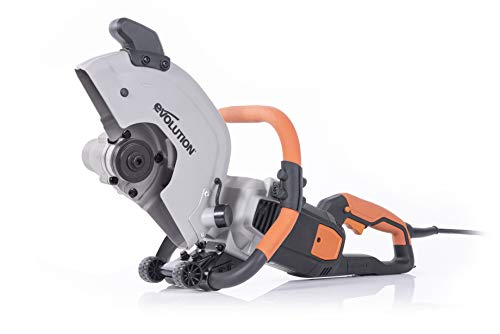 Evolution R300DCT - 12 in Concrete Saw (Aka Circular Saw, Angle Grinder, Chop Saw, Cut Off Saw, Demo Saw, Disc Cutter, Power Cutter) - 15A Motor, No Gas - 4-1/2 in Cut