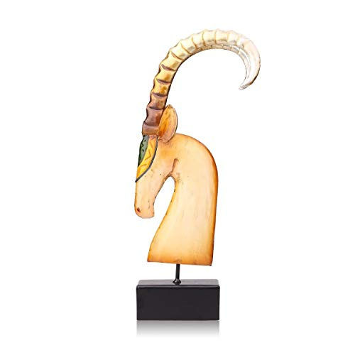 7°MR Cabra africana Sculptrue de metal Escultura de hierro Escultura abstracta Manualidades Artículos de decoración del hogar Arte de decoración