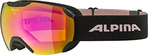 ALPINA PHEOS S Q-Lite Gafas de esquí, Unisex-Adult, Black-Rose, One Size