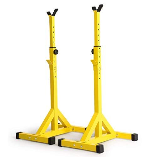 DSHUJC Free-Weight Racks Squat Stands, Fitness Barbell Rack Weight Lifting Rack Bankdrücken, 10 Stufen höhenverstellbar, Krafttraining Stand für Indoor Gym