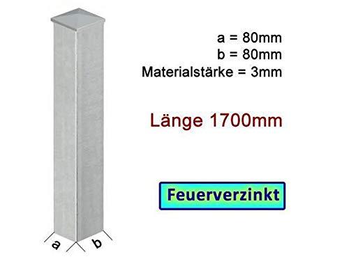 zum Einbetonieren Zauns/äule in Stahl VZ L=1200mm mit 2 verstellbaren Laschen BAUER