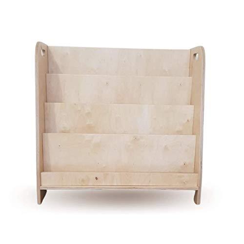 Mami - Librería Montessoriana de madera para niños | dormitorio infantil | Porta libros cómics cuadernos diseño | 100% Made in Italy | 4 estantes | Modelo D'Artagnan