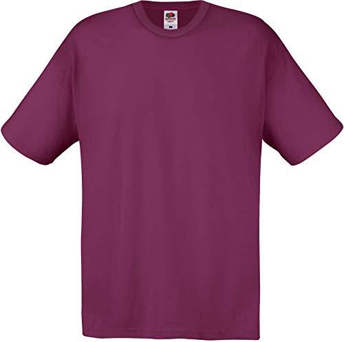 Fruit of the Loom Original T. Camiseta, Granate, S para Hombre