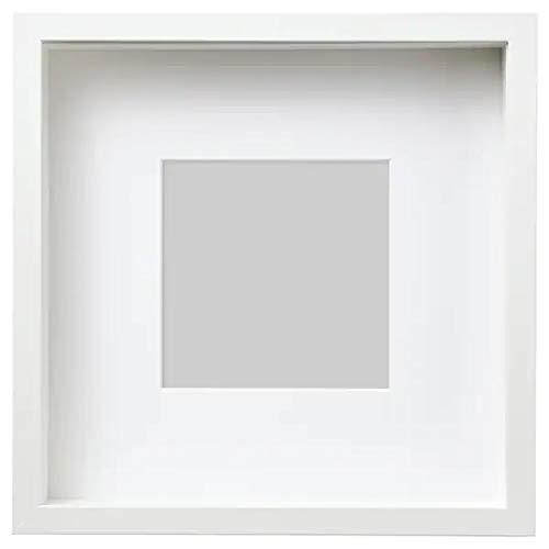 IKEA Sannahed Bilderrahmen - Innenmaß 25x25x4cm - Außenmaß 27x27cm - Objektrahmen inkl. Passepartout - weiß