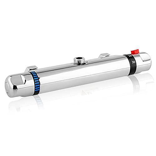Grifo termostático de ducha, grifo termostático de ducha, botón de seguridad de 38 °C para un control preciso de la temperatura.