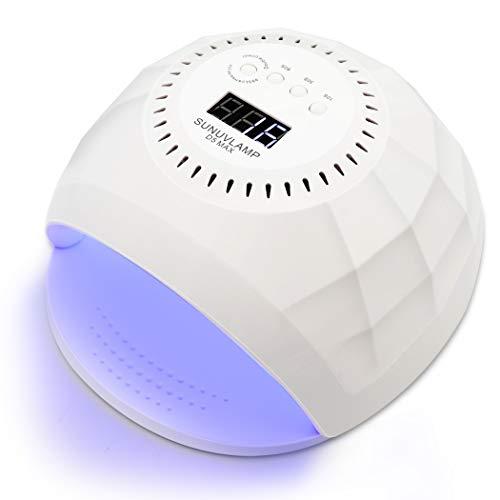 UV LED Nail Lamp, PHIAKLE 120W Professional Curing Lamp Nail Dryer Polish Led Lamp for Gel Nails 4 Timer Settings