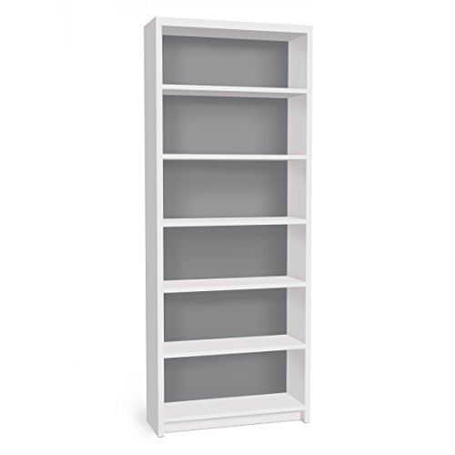 Apalis Möbelfolie für IKEA Billy Regal Klebefolie Deko Colour Cool Grey 2X 94 x 76cm