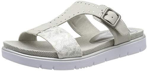 Jana 100% comfort Damen 8-8-27100-22 Pantoletten, Grau (Lt. Grey Comb 211), 40 EU