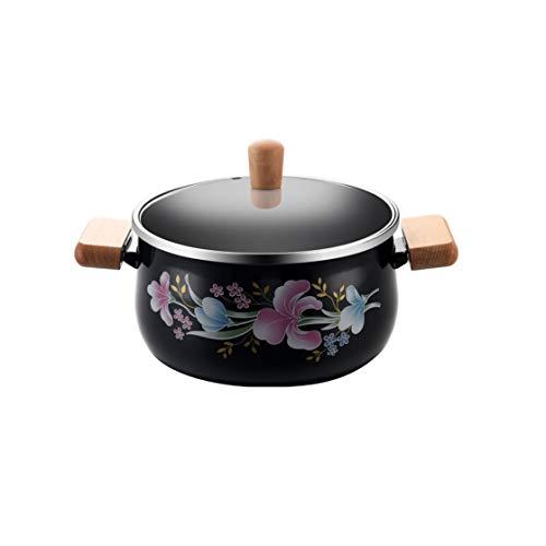 CJTMY Esmalte crisol de la Sopa Olla Pot Leche Pan Pan Alimentos Utensilios de Cocina Ollas cazuela Cocina de inducción Hotpot Calderas Vapor