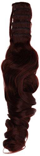 BiYa Hair Elements Thermatt Extensions de cheveux bouclés, vin rouge foncé numéro 99J 50,8 cm/60 g
