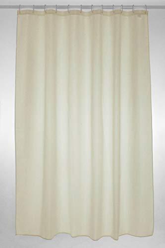 Duschvorhang, aus Stoff, extra lang, einfach, 180x200cm, Creme