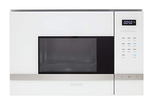 Micro ondes Encastrable Siemens BF555LMW0 - Micro-Ondes Intégrable Blanc et Inox - 25 litres - 900 W