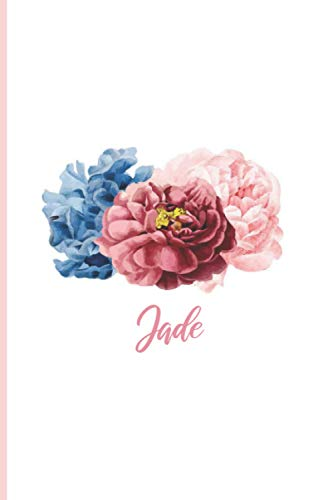 Jade: Personalized notebook for Jade, Christmas Birthday Notebook Journal for Women, Cute Simple Elegant Flowers Cover with personalised name