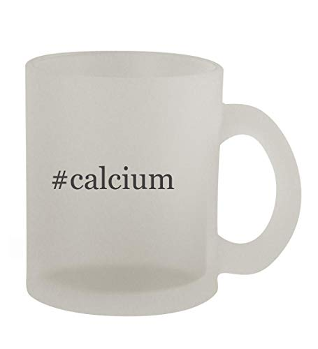 #calcium - 10oz Hashtag Frosted Coffee Mug Cup, Frosted