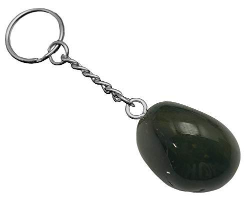 KRIO® - schöner Heliotrop/Blutjaspis Handschmeichler als Schlüsselanhänger/Accessoire