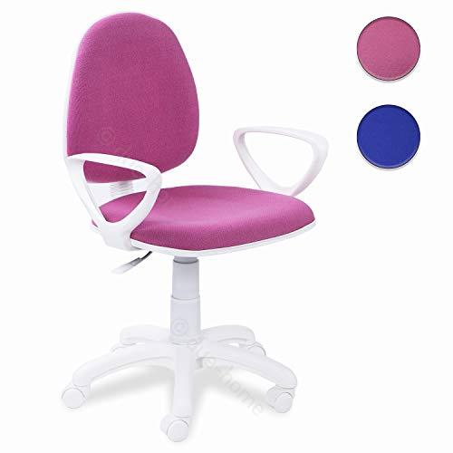 Adec - Dolphin, Silla de Escritorio giratoria, Silla Juvenil de Oficina, Color Rosa, Medidas:...