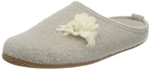 Living Kitzbühel Damen Pantoffel Hochzeit mit Fußbett Hausschuh, Feather Grey, 41 EU