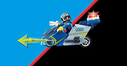 PLAYMOBIL Galaxy Police 70018 Policía Galáctica Moto, con Efectos de Luz, A Partir de 5 Años