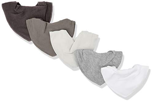 pippi Halstücher 5er Pack Baby Lätzchen Dreieckstücher Foulard Tour De Cou, Blanc (White 100), Taille Unique Mixte bébé