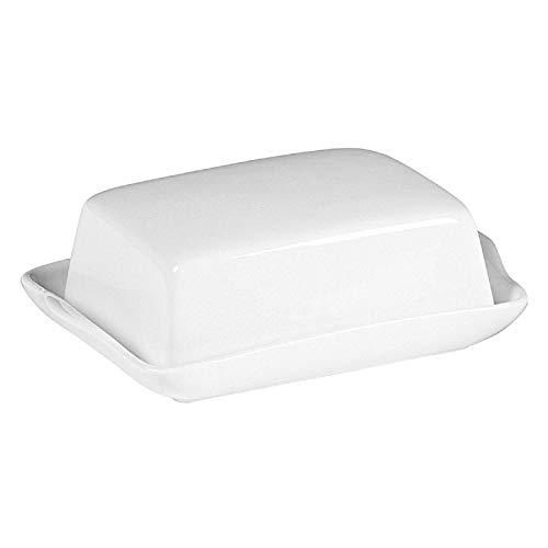 Retsch Arzberg 130078011 Snack Butterdose für 250 g Butter, Porzellan, weiß, 2-teilig (1 Set)