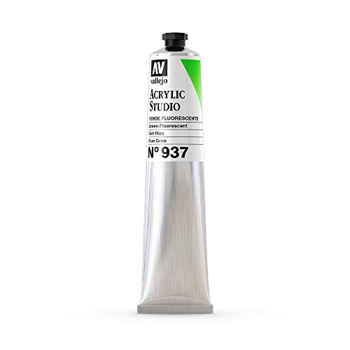 Vallejo : Studio Acrylic Paint : 58ml : Green Fluorescent