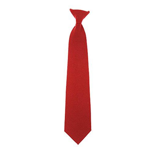 Yoko - Corbata Quita y Pon Modelo Clip-on - Trabajo (Paquete de 4) (Talla Única) (Rojo)