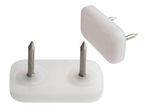 24 Stück mai® Kunststoff Möbelgleiter 30 x 18 zum Nageln, weiß