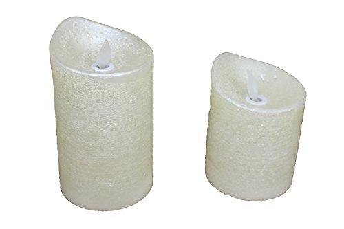 Tchibo TCM 2 x LED Kerzen Kerze Echtwachskerze Wachskerze Real Wax Candle