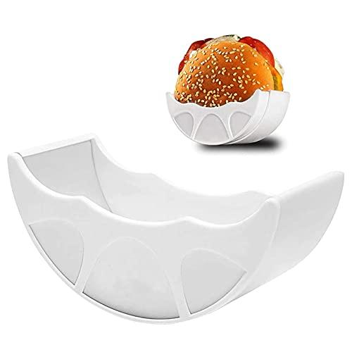 ZYZY Soporte para hamburguesa,Higiénico reutilizable Hamburger Bun Shell,Soporte ajustable para hamburguesa apto para lavavajillas