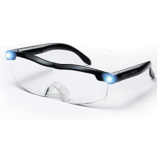 Lunettes de Lecture - Loupe de Vision puissante avec lumière LED, grossissement de 160%, pour Lecture,Tous Les Travaux de Précision,Réparations,Couture, Montres et Artisanat