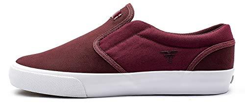 Fallen The Easy. Zapatillas de Skate, Hombre. (40.5 EU, Crimson/White)