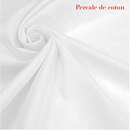 Bng 3 m percale katoen wit - extra brede stof per meter