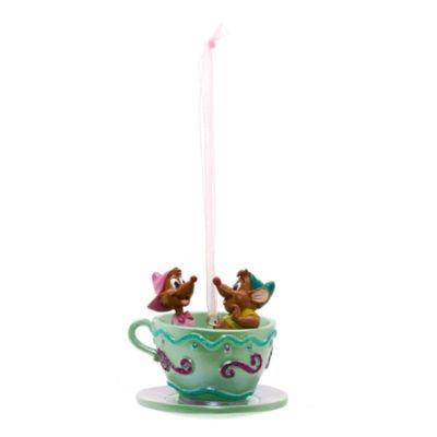Official Disney Gus and Suzy Tea Cup Christmas Decoration- Cinderella