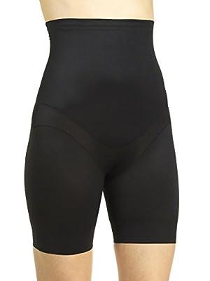 Miraclesuit Flex Fit Hi-Waist Thigh Slimmer, Black, Medium