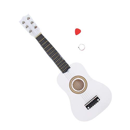Holibanna 1 Pieza de Guitarra Acústica de 21 Pulgadas de Madera 6 Cuerdas Artesanía Mini Guitarra Juguete Instrumento Musical Regalo para Niños